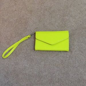 Charming Charlie's Yellow Wristlet